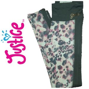 NWT JUSTICE ACTIVE High Waist Athletic Leggings.